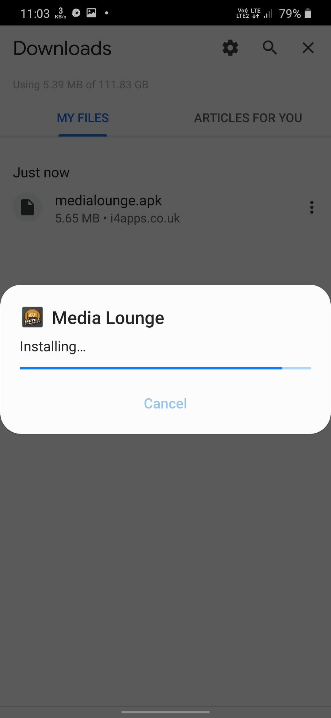 Install Media Lounge on Android Smarphones